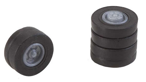 Faller 163110 - 4 tyres and rims for N lorries