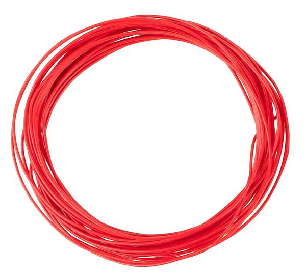 Faller 163781 - Stranded wire 0.04 mm², red, 10 m