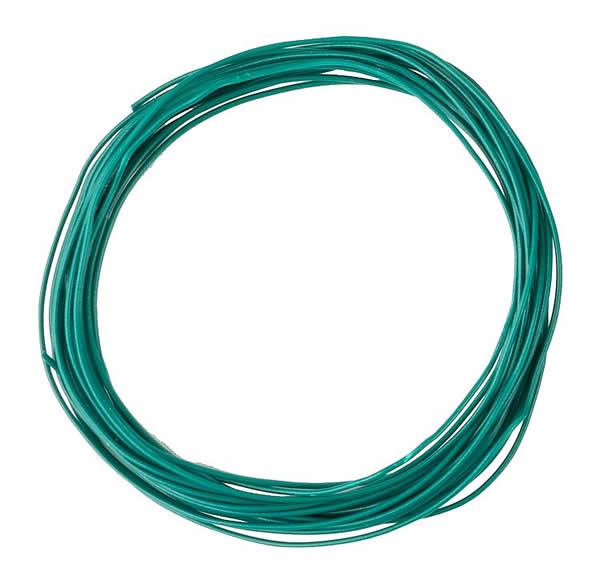 Faller 163783 - Stranded wire 0.04 mm², green, 10 m