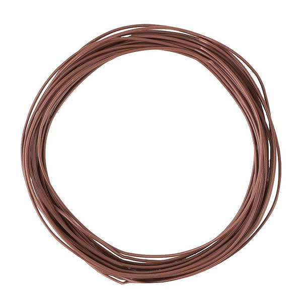 Faller 163788 - Stranded wire 0.04 mm², brown, 10 m