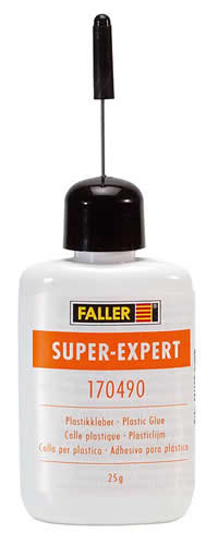 Faller 170490 - SUPER-EXPERT, Plastic Glue, 25 g