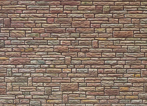 Faller 170604 - Wall card, Cut stone, green-yellow-brown