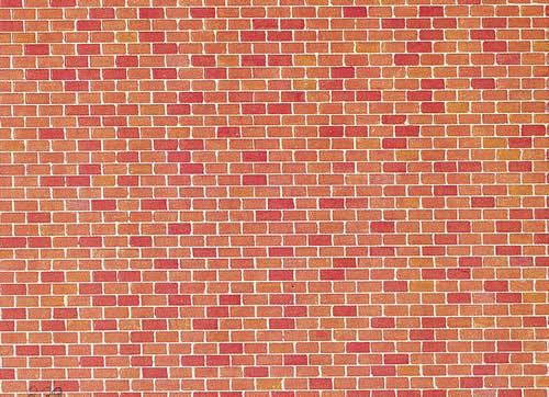 Faller 170608 - Wall card, Red brick
