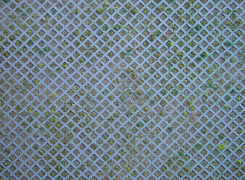 Faller 170625 - Wall card, Diamond perforated bricks with grass