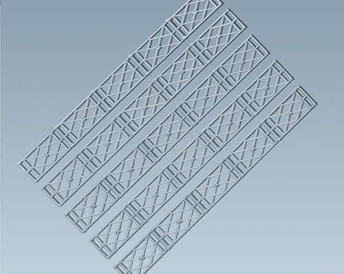 Faller 180407 - Railing fences, 1080 mm