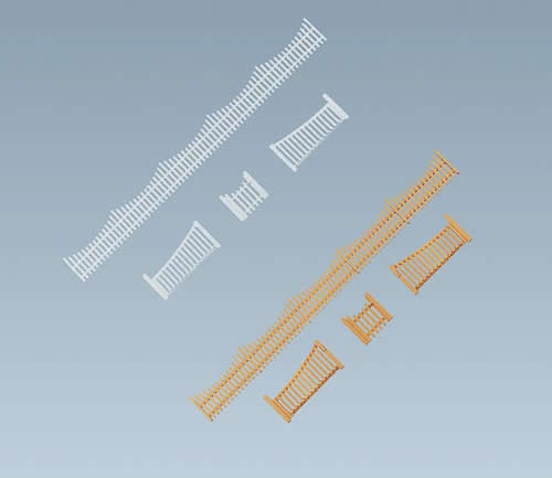 Faller 180410 - Garden fences with gates, 710 mm