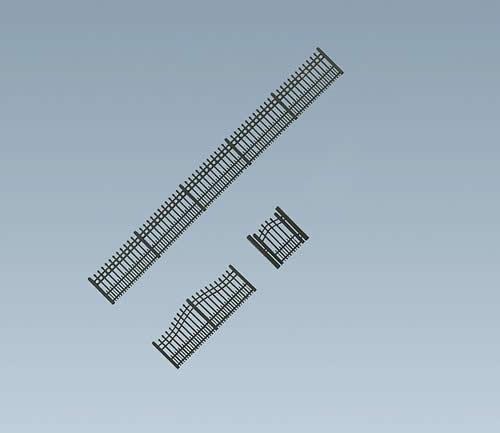 Faller 180411 - Garden iron fence, 684 mm