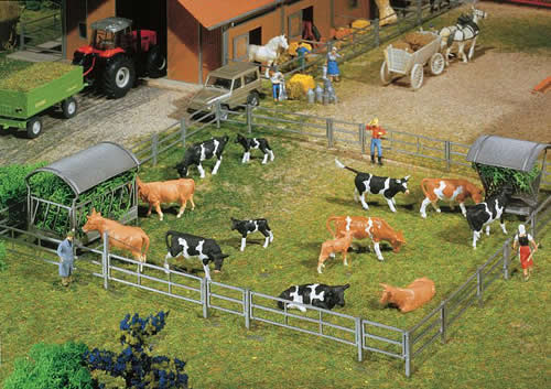Faller 180434 - Fence systems for stalls and open stable farm, 2000 mm (2 x 1000 mm)