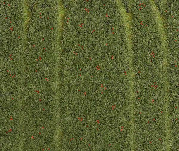 Faller 180458 - PREMIUM Landscape segment, Grain-field with poppies