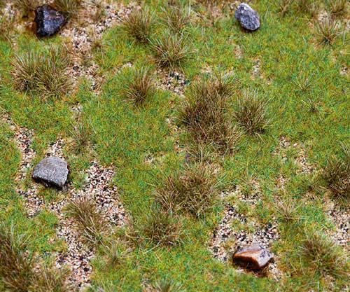 Faller 180476 - PREMIUM countryside segment, Meadow with boulders