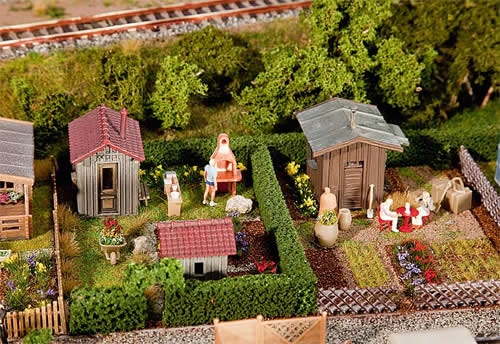Faller 180494 - 2 Allotments with sheds