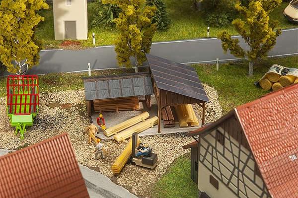Faller 180498 - Timber storage sheds