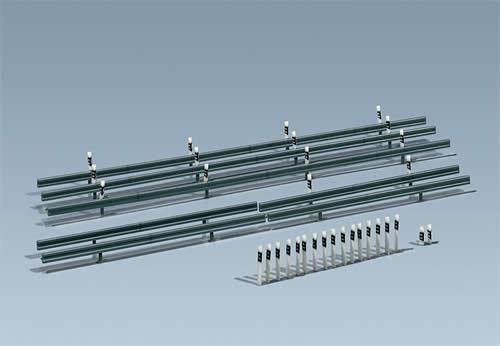 Faller 180535 - Crash barriers, 32 Marker posts, 1600 mm