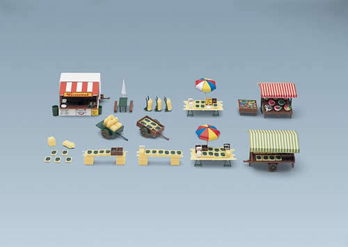 Faller 180582 - Market stands and carts