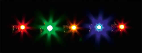 Faller 180652 - 5 LEDs, in different colours