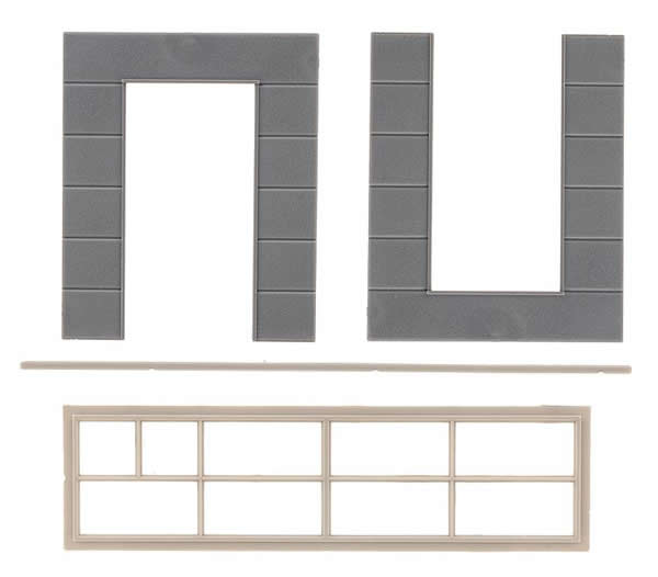 Faller 180883 - Goldbeck, 2 Wall elements with high window