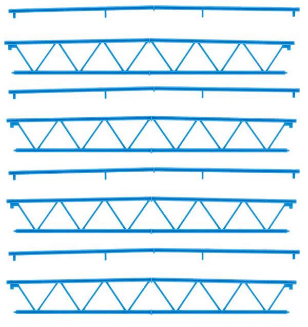 Faller 180885 - Goldbeck, 4 Steel trusses