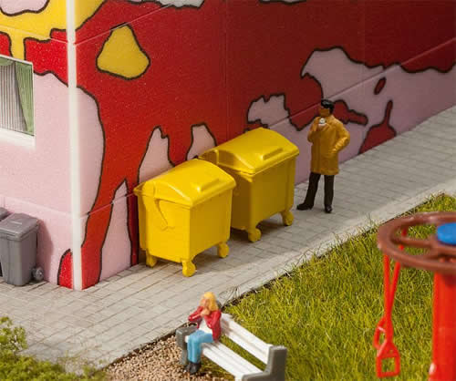 Faller 180913 - 2 Yellow garbage bins