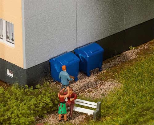 Faller 180914 - 2 Blue garbage bins
