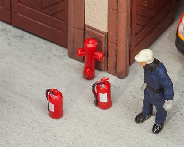 Faller 180950 - 6 Extinguishers and 2 hydrants