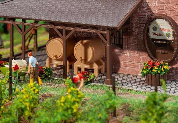 Faller 180972 - 2 Wooden casks and 2 tubs