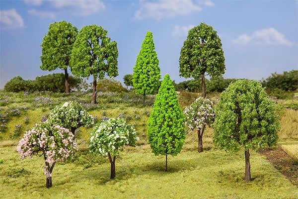 Faller 181526 - 10 Deciduous trees, assorted