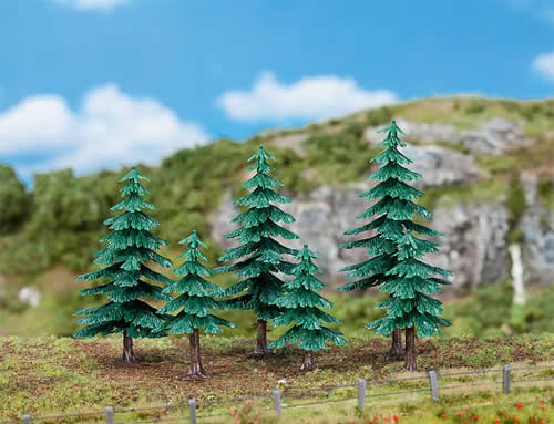 Faller 181604 - 3 Small and 3 large fir trees