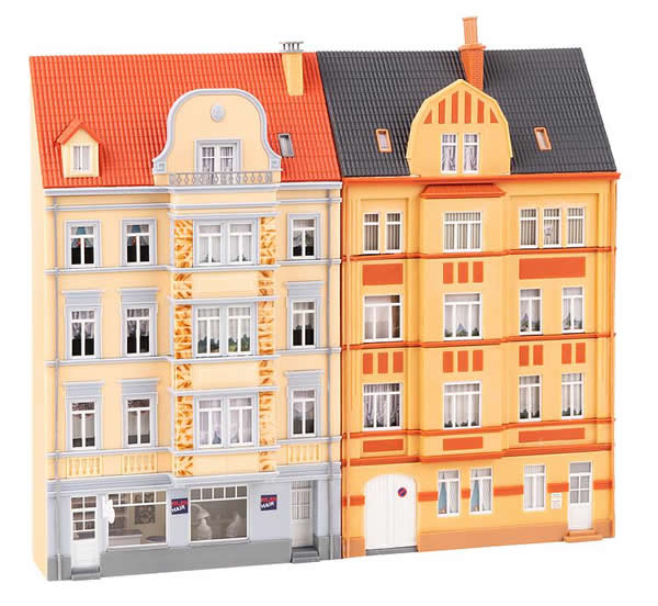 Faller 191758 - 2 Urban relief houses, 4 storeys