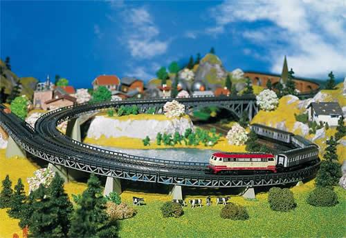 Faller 222542 - 4 Track beds, curved