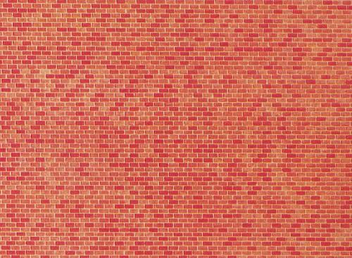 Faller 222568 - Wall card, Red brick