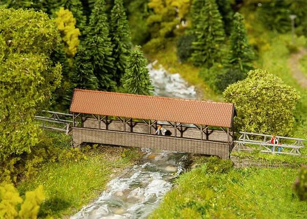 Faller 222574 - Roofed pedestrian bridge