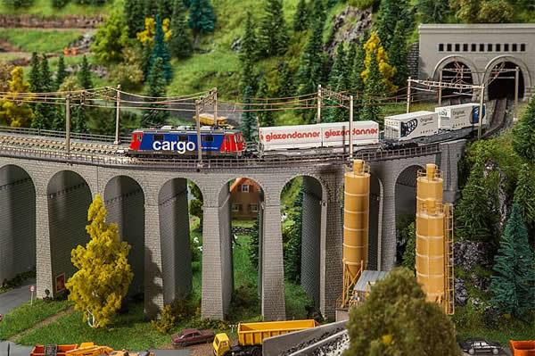 Faller 222598 - Viaduct set, two-track, curved