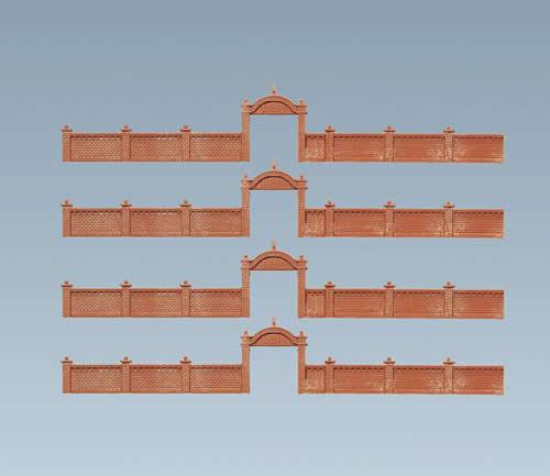 Faller 272405 - Factory wall, 684 mm