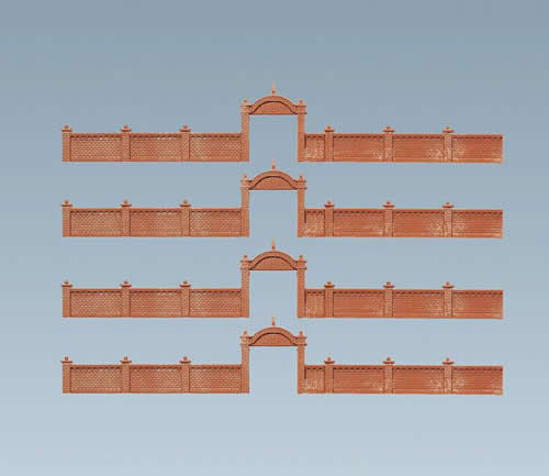 Faller 272405 - Factory wall, 684 mm
