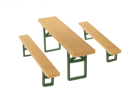 Faller 272442 - 48 Beer benches and 24 Tables
