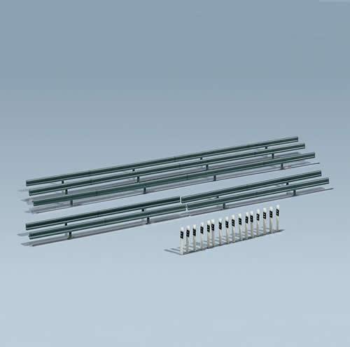 Faller 272452 - Crash barriers, 40 Marker posts, 860 mm