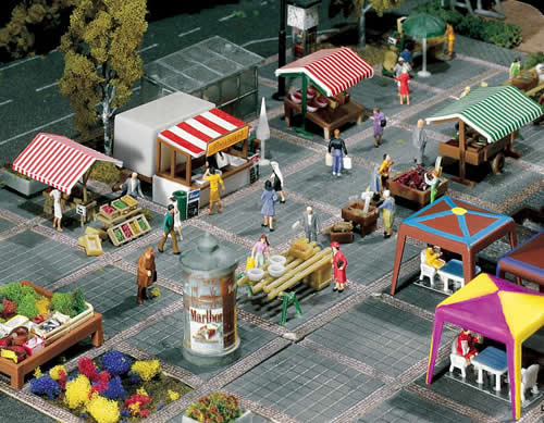 Faller 272533 - Market stands and carts