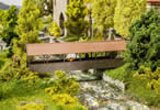 Roofed pedestrian bridge - Lasercut