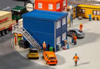 4 Building site containers, blue