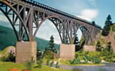 Set of concrete bridge piers