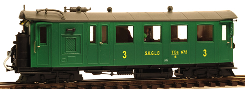 Ferro Train 209-301 - Austrian TCa 672 Railcar of the  SKGLB, ca 1933