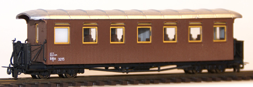 Ferro Train 701-315 - Austrian BBÖ C4iho/s 3215  7 windows,wooden sides
