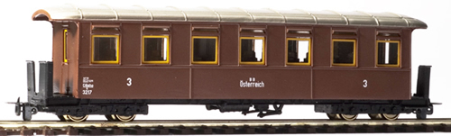 Ferro Train 701-317 - Austrian BBÖ C4iho/s 3217  7 windows,sheet metal sides