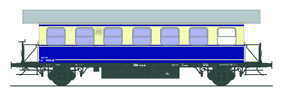 Ferro Train 787-420 - Austrian ÖBB BT 7039.20 railcar trailer blue/beige