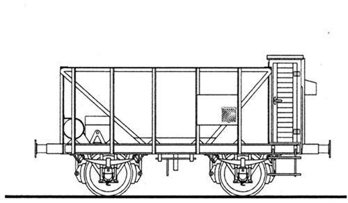 Ferro Train 850-153 - Austrian 2axle ore hopper car kkStB Kz 208963