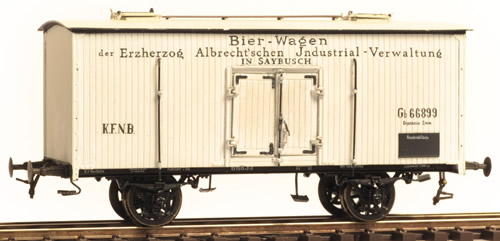 Ferro Train 855-015 - Austrian Beer waggon KFNB Gb66899  Saybush brewery