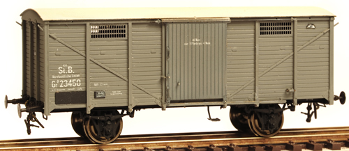 Ferro Train 855-050 - Austrian KkStB Gg 13950 Covered goods waggon, no brakes