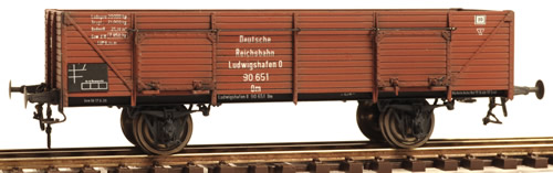 Ferro Train 855-251 - German DRB 90651 Ludwigshafen open good wg., brown