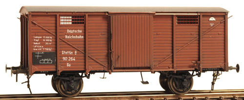 Ferro Train 855-264 - German DRB 90 264 Stettin cov. goods wg.. no brake, Ep2
