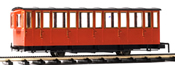 Austrian Cog rwy passenger coach, closed platform, red